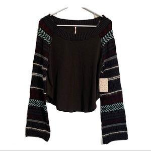 FREE PEOPLE NWT long sleeve sweater top